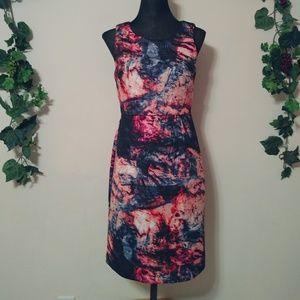 Cynthia Rowley Watercolor Stretchy Sheath Dress